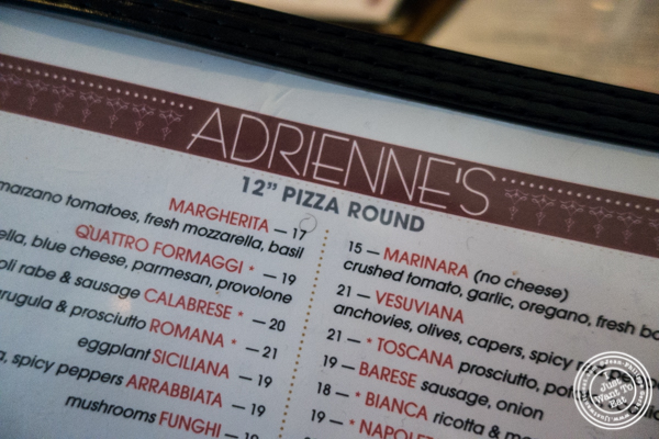 Adrienne's Pizzabar in the Financial District, NYC