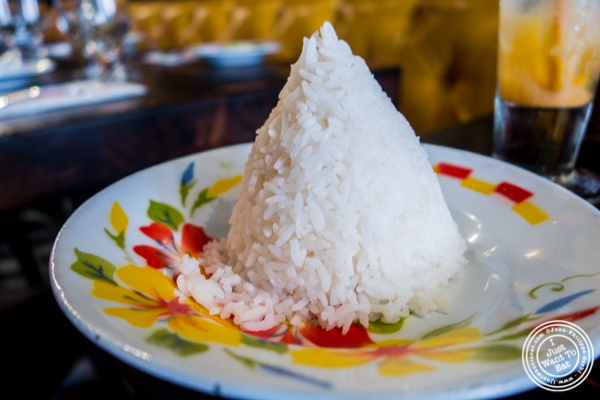 White rice at Esanation, Thai restaurant in Hell's Kitchen, NYC