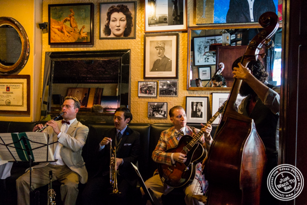 The Grand St. Stompers band performing at Raoul's, French Restaurant in NYC, NY