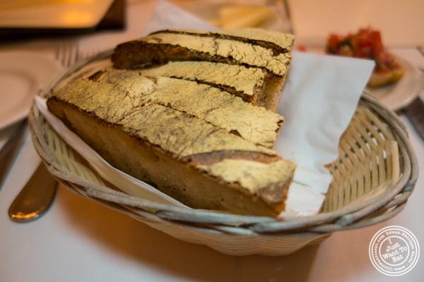 Bread at Bistecca Fiorentina in NYC, NY