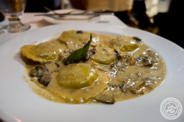 Tortellini al funghi at Bistecca Fiorentina in NYC, NY