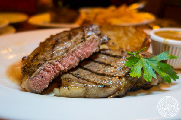 Sirloin at Chez Jacqueline in Soho, NYC, NY