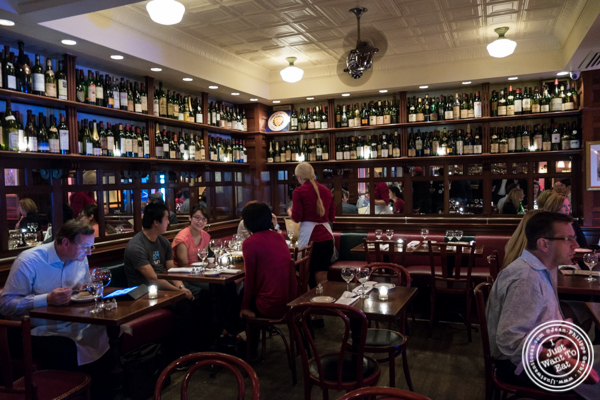 Dining room at Le Bateau Ivre in NYC, NY