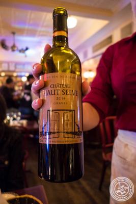 Bordeaux, Graves Chateau Haut Selve 2014 at Le Bateau Ivre in NYC, NY