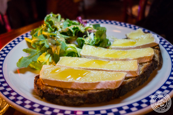 Tartine Brie Miel at Le Bateau Ivre in NYC, NY