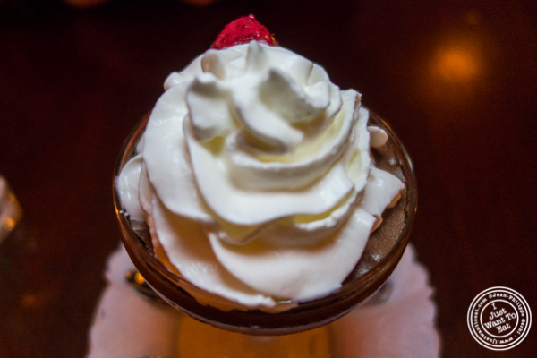 Chocolate mousse at Le Bateau Ivre in NYC, NY