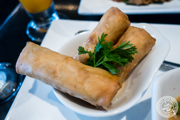 Spring rolls at Room Service in Hell's Kitchen, NYC