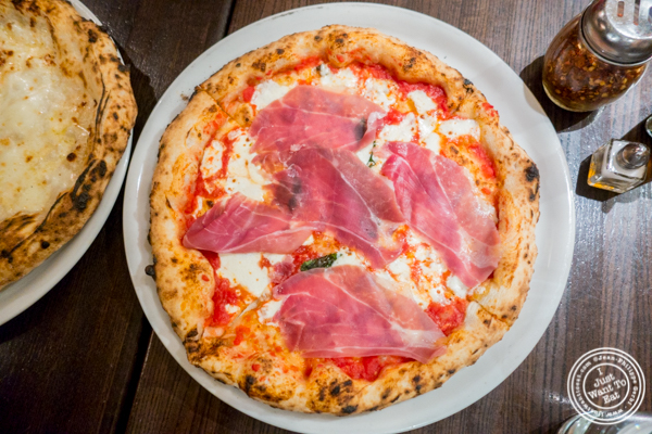 Prosciutto di parma pizza at Keste Pizza & Vino in NYC, NY