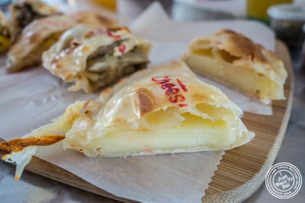 Cheese empanada at Empanadas Café in Hoboken, NJ