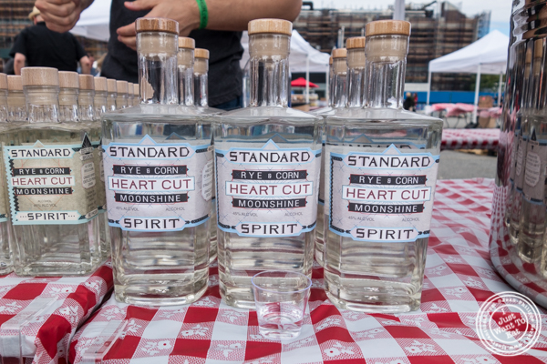Moonshine from Standard Wormwood Distillery at The Great Big Bacon Picnic in Williamsburg, Brooklyn