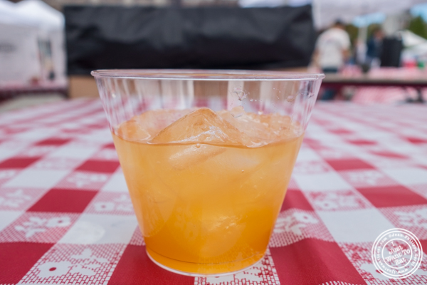 Apple cider cocktail from Barrow's Intense at The Great Big Bacon Picnic in Williamsburg, Brooklyn