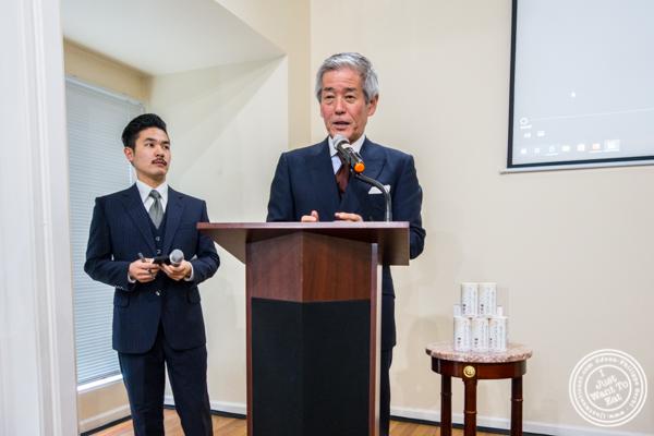 Mr Hiroshi Sakurai, President of Asahi Shuzo