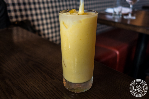 Mango lassi at Kurry Qulture in Astoria, Queens