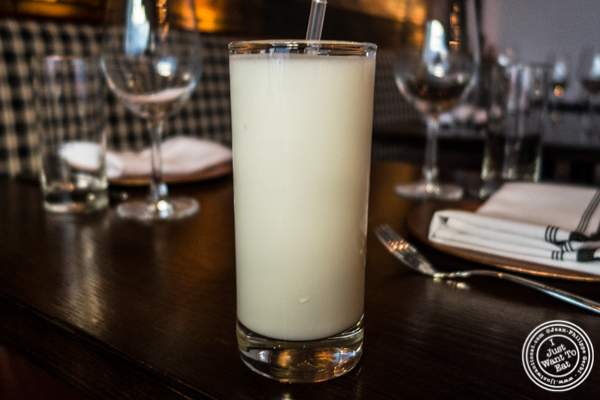 Sweet lassi at Kurry Qulture in Astoria, Queens