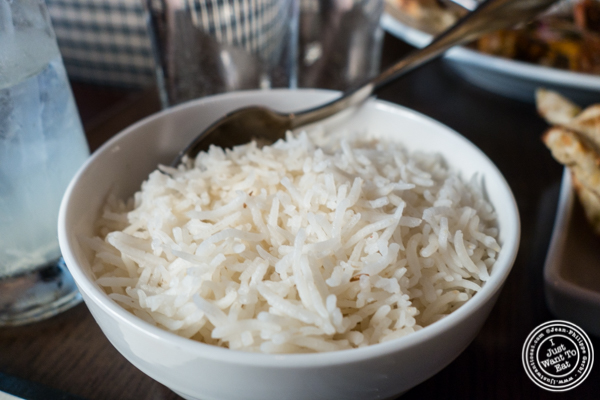 White rice at Kurry Qulture in Astoria, Queens