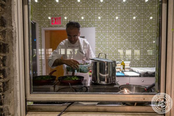 Chef Walter Potenza cooking Pasta Lensi
