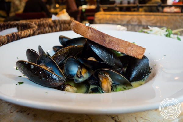 Cozze in Bianco mussels at Machiavelli, Upper West Side, NYC