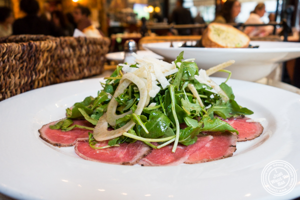 Carpaccio di Manzo at Machiavelli, Upper West Side, NYC