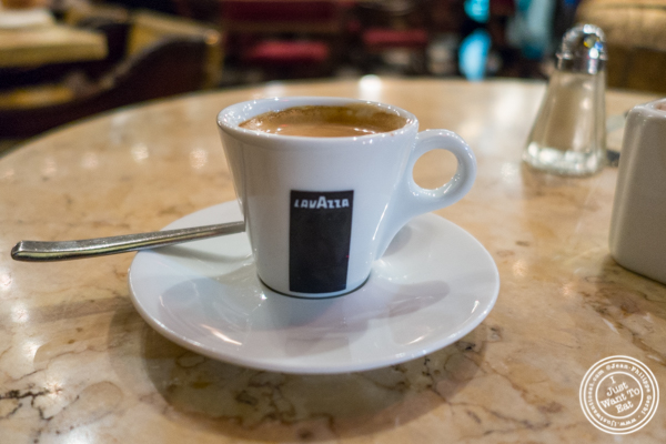 Espresso cioccolato at Machiavelli, Upper West Side, NYC