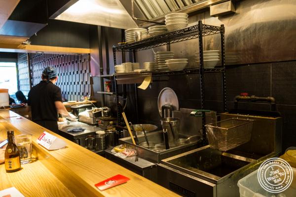 Open kitchen at Mentoku Ramen in Hell's Kitchen
