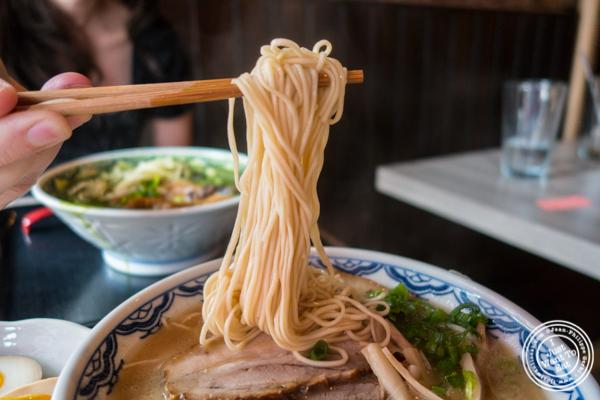 Chashu ramen noodles at Mentoku Ramen in Hell's Kitchen