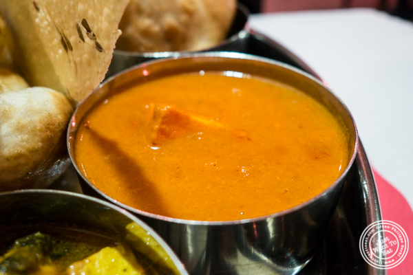 Paneer tikka masala at Bombay Grill House in Hell's Kitchen