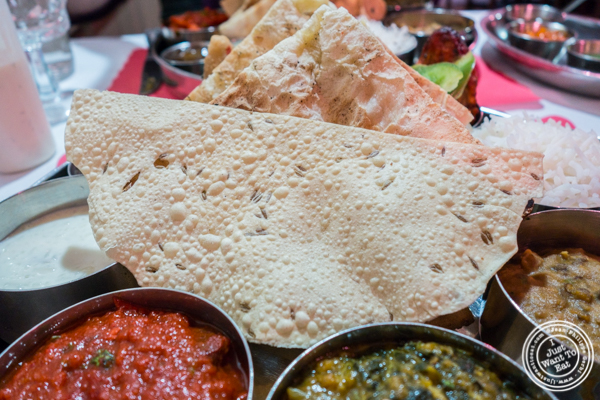 Papadum at Bombay Grill House in Hell's Kitchen