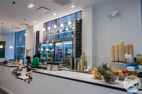 Juice bar at EXKI in NYC, New York