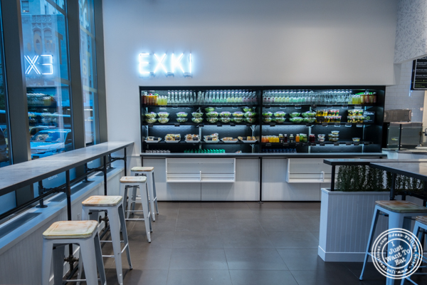 Dining room at EXKI in NYC, New York