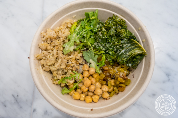 Vegetarian bowl at EXKI in NYC, New York