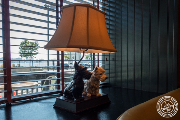 Dogs lamp at Jack Austin's in Weehawken, NJ