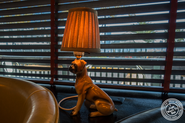 Dog lamp at Jack Austin's in Weehawken, NJ