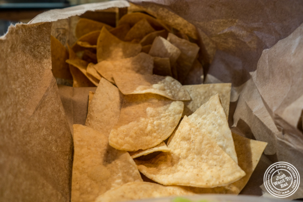 Tortilla chips at Otto's Tacos in Hell's Kitchen