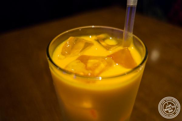 Mango lassi at Lala Sahab in NYC, New York