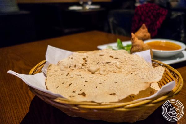 Papadum at Lala Sahab in NYC, New York
