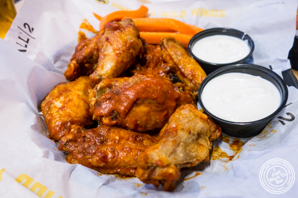 Wings bazin' spicy at Buffalo Wild Wings in Times Square, NYC
