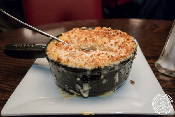 Truffle mac and cheese at The Old Homestead Steakhouse in NYC, NY
