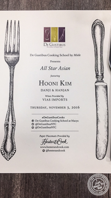 All Star Asian class at De Gustibus Cooking School at Macy's, NYC, NY