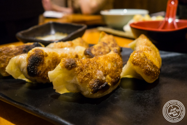 Fried pork gyoza at Sake Bar Hagi 46 in Hell's Kitchen, NYC