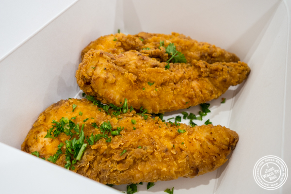 Chicken strips at Sticky's Finger Joint in Hell's Kitchen, NYC