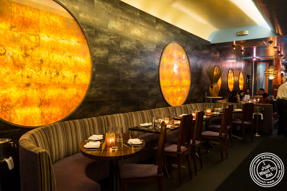 Dining room at Bustan on the Upper West Side, NYC