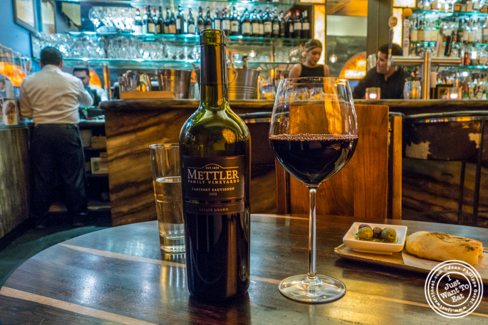 Mettler Family Vineyards 2013 Cabernet Sauvignon at  Bustan on the Upper West Side, NYC