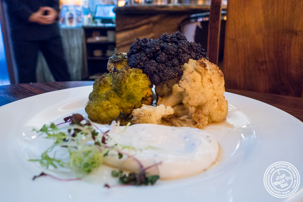 Roasted cauliflower at Bustan on the Upper West Side, NYC