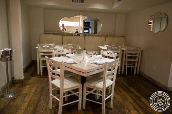 Dining room at Korali Estiatorio on the Upper East Side, NYC, NY