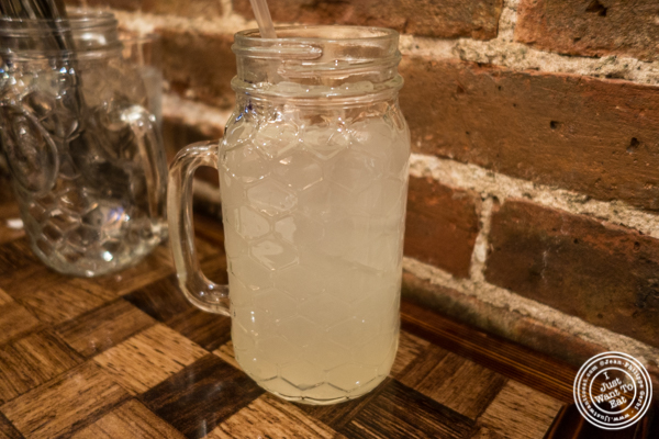 Homemade lemonade at Zora's Cafe in Hell's Kitchen, NYC