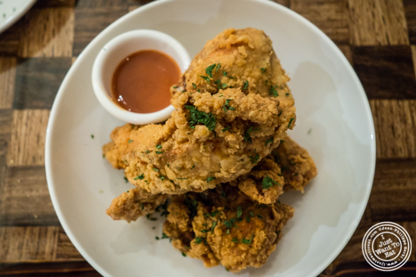 Fried chicken at Zora's Cafe in Hell's Kitchen, NYC