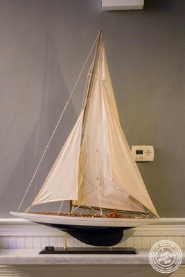 Boat replica at Sagaponack in NYC, New York