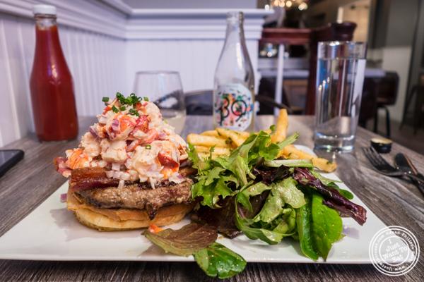 Surf and turf burger at Sagaponack in NYC, New York