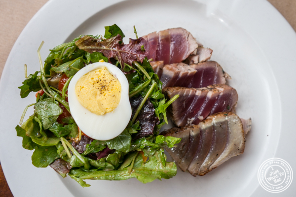 Seared tuna Nicoise salad at Pershing Square in NYC, NY