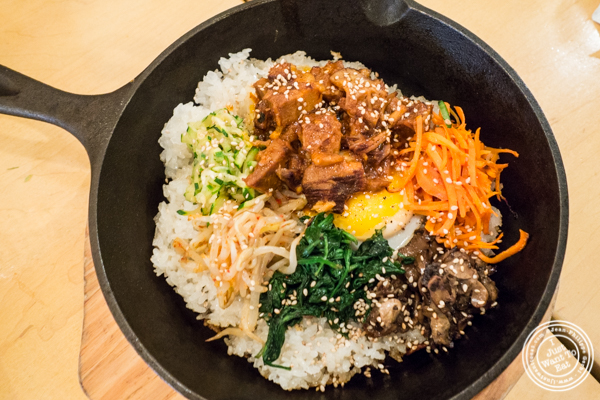 Spicy pork belly bibimbap at Danji in NYC, NY